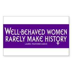 WELL-BEHAVED WOMEN Sticker (Rectangle 50 pk)