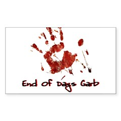 EODG Handprint Logo Sticker (Rectangle 50 pk)