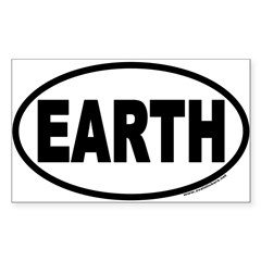 Earth Day EARTH Euro Oval Sticker (Rectangle 50 pk)