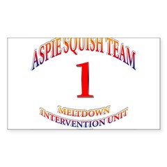 Aspie Squish Team Oval Sticker (Rectangle 50 pk)