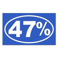 47 Percent Sticker (Rectangle 50 pk)