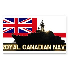 Royal Canadian Navy Rectangle Sticker (Rectangle 50 pk)