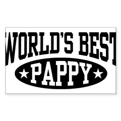 World's Best Pappy Sticker (Rectangle 50 pk)