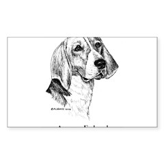 American Foxhound Sticker (Rectangle 50 pk)