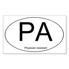 Physician Assistant Oval Sticker (Rectangle 50 pk)