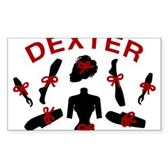Dexter Dismembered Doll Sticker (Rectangle 50 pk)