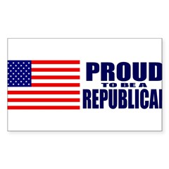 Proud to be a Republican Sticker (Rectangle 50 pk)