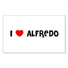 I LOVE ALFREDO Sticker (Rectangle 50 pk)