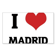 I Love Madrid Rectangle Sticker (Rectangle 50 pk)