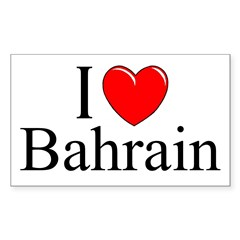 """I Love Bahrain"" Rectangle Sticker (Rectangle 50 pk)"