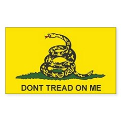 Gadsden Flag Rectangle Sticker (Rectangle 50 pk)
