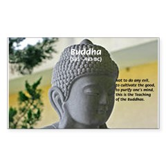 Eastern Philosophy: Buddha Rectangle Sticker (Rectangle 50 pk)