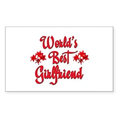 World's Best Girlfriend Rectangle Sticker (Rectangle 50 pk)