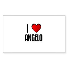 I LOVE ANGELO Rectangle Sticker (Rectangle 50 pk)