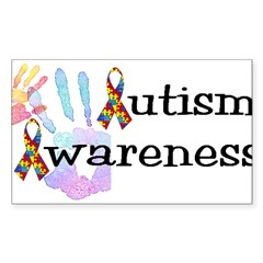 Autism Awareness Rectangle Sticker (Rectangle 50 pk)