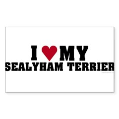 I Love My Sealyham Terrier Sticker (Rectangle 50 pk)