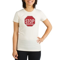 STOP SNITCHING - Women's Pink Organic Women's Fitted T-Shirt