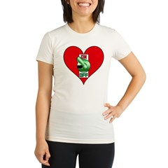Heart On Organic Women's Fitted T-Shirt
