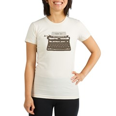 Typewriter Organic Women's Fitted T-Shirt