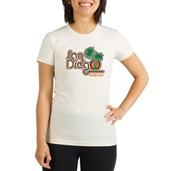San Diego California Organic Women's Fitted T-Shirt
