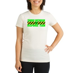 Zombie Outbreak Response Team Organic Women's Fitted T-Shirt