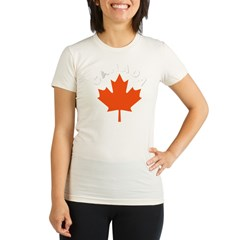 Canadian Maple Leaf Organic Women's Fitted T-Shirt