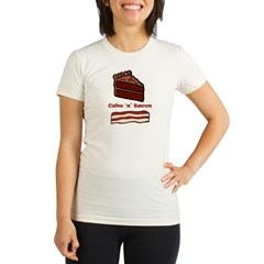 CakeNBacon.jpg Organic Women's Fitted T-Shirt