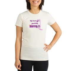 The Best Girls are from Buffalo Women's Pink Organic Women's Fitted T-Shirt
