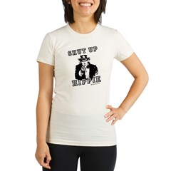 Shut up, Hippie - Organic Women's Fitted T-Shirt