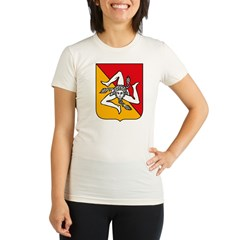 Sicily Coat of Arms Organic Women's Fitted T-Shirt