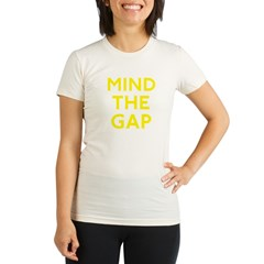 mindgaponblack3 Organic Women's Fitted T-Shirt