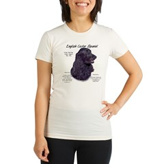 Black English Cocker Spaniel Organic Women's Fitted T-Shirt