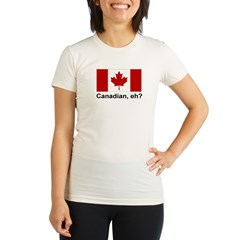 Canadian, eh? Organic Women's Fitted T-Shirt