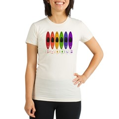 Kayak Rainbow Organic Women's Fitted T-Shirt