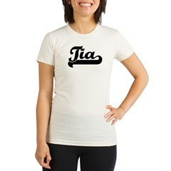 Black jersey: Tia Organic Women's Fitted T-Shirt