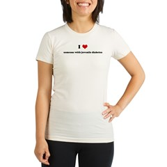 I Love someone with juvenile Organic Women's Fitted T-Shirt