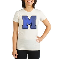 M Go Blue Organic Women's Fitted T-Shirt