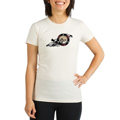 Poker Ace merged 02 PRINT copy.psd Organic Women's Fitted T-Shirt