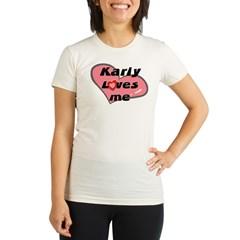 karly loves me Organic Women's Fitted T-Shirt