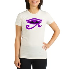 Purple Organic Women's Fitted T-Shirt