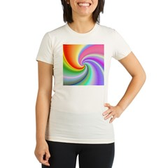 Rainbow Spiral Organic Women's Fitted T-Shirt