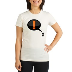 exclamation-dark Organic Women's Fitted T-Shirt