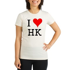 I Love HK Organic Women's Fitted T-Shirt