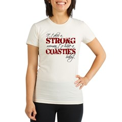 Strong woman (Coastie) Organic Women's Fitted T-Shirt