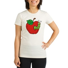 Wormy Apple Organic Women's Fitted T-Shirt