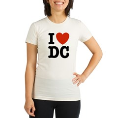 I Love DC Organic Women's Fitted T-Shirt