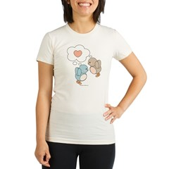 Love Birds Organic Women's Fitted T-Shirt