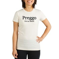 """Preggo"" Plus Size Scoop Neck T-Shirt (white) Organic Women's Fitted T-Shirt"