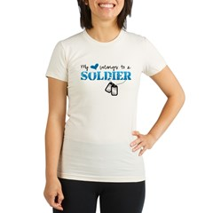My heart belongs to a Soldier Organic Women's Fitted T-Shirt
