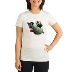 Keeshond Flag Organic Women's Fitted T-Shirt